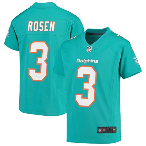 Nike Miami Dolphins Josh Rosen Kids 4-7 and Youth 8-20 Game Jersey, Aqua (Youth Medium 10-12)
