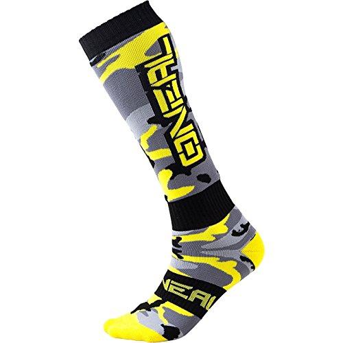 O'Neal   Calcetines de motocross de montaña   MTB Downhill Freeride   Absorción del sudor, talón reforzado y suela   Pro MX Ladies Hunter   Unisex   Adultos   Gris, negro y amarillo   Talla única