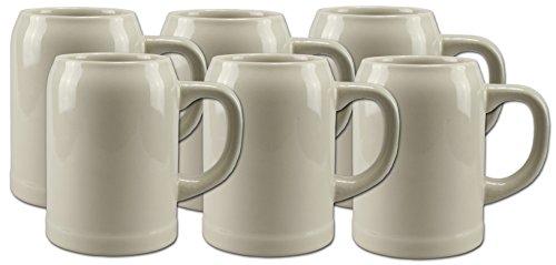 6 Bierkrüge Humpen 0,5L Steinkrug ohne Füllmarke