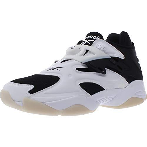 Reebok Men's Pump Court Basketball Shoes, White/White/Black, 8.5