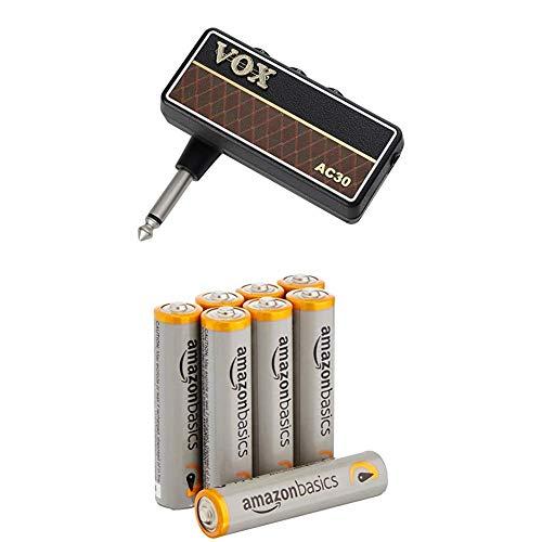 VOX amPlug 2 AC30 (AP2-AC) Gitarren-Kopfhörer-Verstärker Classic AC30 n/a mit AmazonBasics Batterien