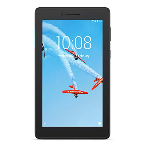 "Lenovo TAB E7 Tablet, Display 7"" HD TN 1024 x 600, Processore MediaTek,16GB espandibili fino a 128GB, RAM 1GB, WiFi+3G, Camera Anteriore 0.3MP/Posteriore 5MP, 1 Speaker,Android Oreo, Slate Black"