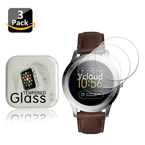 Ycloud [3 Stück Panzerglas Folie Schutzfolie Bildschirmschutzfolie für Fossil Q Fo&er 2.0 Watch Smartwatch mit Festigkeitgrad 9H, 0,26mm Ultra-Dünn, Abger&ete Kanten