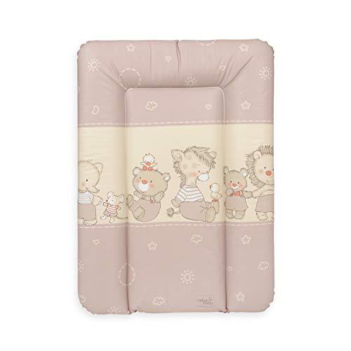 Ceba Baby Fasciatoio Materassino morbido Fasciatoio 70x50 cm, 70x75 cm, 70x85 cm Cuscino Fasciatoio Lavabile per bambine e bambini - Stelle animali baby 70 x 50 cm