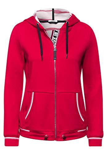 Cecil Damen Sportive Sweatjacke Hibiscus red M