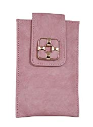 Tickles Pink Stylish Mobile Pouch Waist Clip for Womens Girls