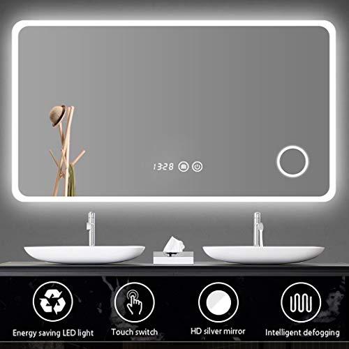 Mirrors YX Badezimmerspiegel mit hellem Waschtisch Lichtspiegel LED-Wandspiegel Antibeschlagspiegel Smart Mirror Wandspiegel