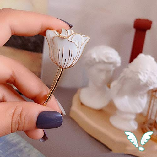 Miwaimao Landia Nueva Pintura Vintage Esmalte Ramo de Flores Lirio tulipán Planta broches alfileres para Mujeres Novia Boda Fiesta Insignia Accesorios