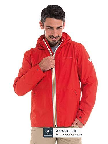 Schöffel Herren Jacket Pittsburgh3 bequeme Herren Jacke mit Sicherheitstasche, wetterfeste Übergangsjacke mit integrierter Packtasche, aura orange, 46