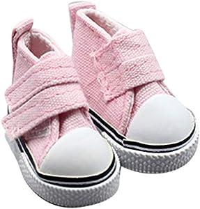 Morza 1 Zapatos de Lona muñeca Par 5 cm seakers muñeca de Juguete Calzado Deportivo Zapatillas de Tenis para niños Juguetes del Regalo