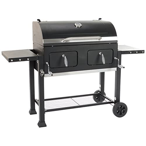 41sOl7HNl8L. SS500  - Grill Chef 11510 Broiler XXL Charcoal Barbecue, Black, 110x155x67 cm