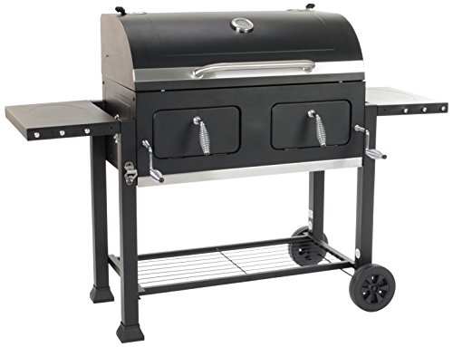 Grill Chef 11510 Broiler XXL Charcoal Barbecue, Black, 110x155x67 cm