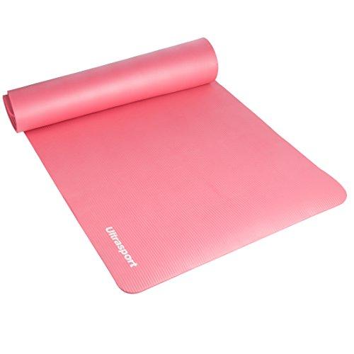 Ultrasport 331100000168 Gymnastikmatte, Pink, 190 x 90 x 1,2 cm