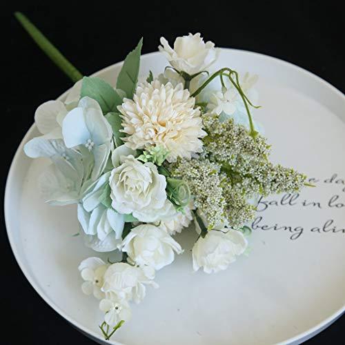 Hunpta@ Künstliche Blumen Chrysantheme Hortensie Blumenstrauß Kunstblumen Blumenarrangement für Haus Büro Balkon Garten Romantisch Hochzeit Party Valentinstag Dekoration