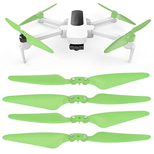 Parti RC Drone, Elica RC Drone, Rosso/Verde Durata 2 Coppia 8 Pezzi Plastica Robusta per Zino/Zinoipro H117S Hubsan(Green)