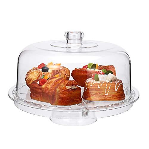 MASUNN Duidelijke Plastic Cupcake Cake Muffin Case Houder Container Doos met Koepeldeksel