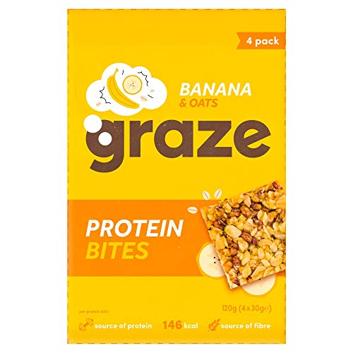 Graze Protein Bites Banana Oat Squares, 30 g, 4 Count