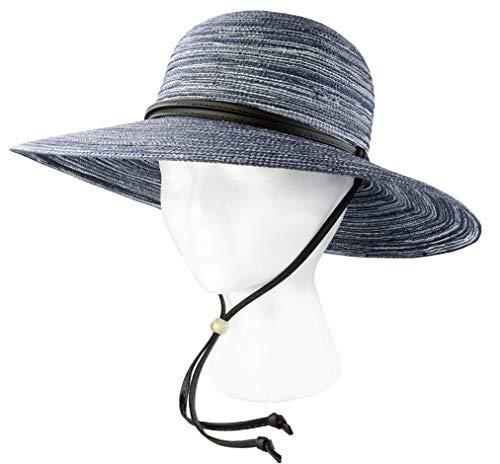 Sloggers PPL4405NV Women's Braided Sun Hat UPF 50+ Navy-Medium, Blue