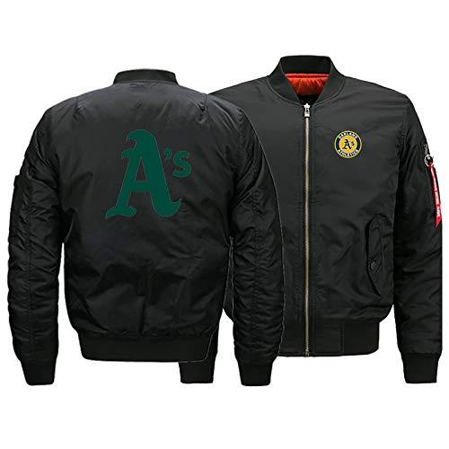 GMRZ MLB Herren Jacke, Mit Oakland Athletics Logo Major League Baseball Team Sweatshirts Fans Jerseys Sweatjacke Mit Warm Winter Outdoor Ski-Jacket,A,5XL