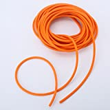 Natural Latex Rubber Tube for Slingshot Catapult Making, 32.8ft/10m-1.7x4.5mm, Orange Rubber Hose Accessories for Making Professional Hunting Catapult or Slingshot for Competition