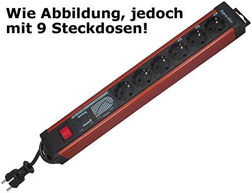 Stekkerdoos 'Supra-Line PC'' 9-voudig, netfilter, UV-bescherming, 3 m kabel