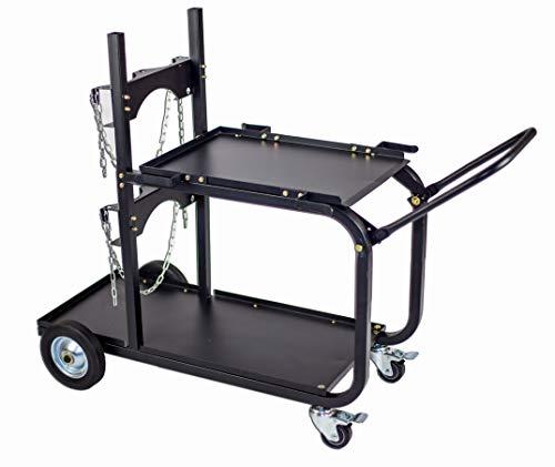 Metal Man Single/Dual Bottle Heavy Duty Welding Cart w/handle