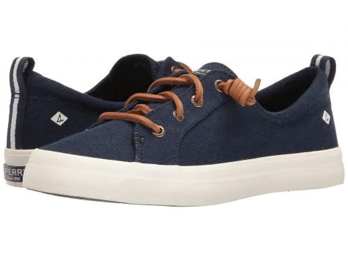 対話混雑スラム街Sperry(スペリー) レディース 女性用 シューズ 靴 スニーカー 運動靴 Crest Vibe Washed Linen - Navy 9.5 M (B) [並行輸入品]