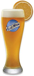 Blue Moon XL 23 Oz Wheat Beer Glass   Set of 2 Bar Edition Glasses