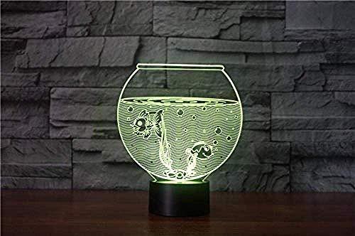 Creativo Acuario 3D Led Luces de Noche Acrílico 3D Fantasía USB Luz de Noche Lámpara de Mesa Decoración del Hogar Regalo de Cumpleaños Accesorios