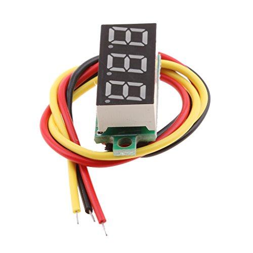 RD 0.36 inch 0-100V Three-wire Digital Display Voltage Meter Voltmeter Tool