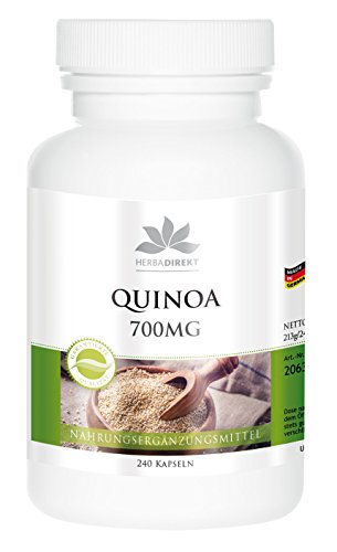 Quinoa 700 mg - 240 capsules - Duitse kwaliteit