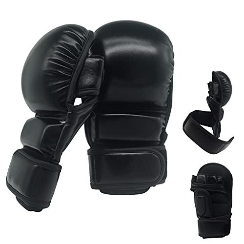MMA Handschuhe   Extra Dicke Polsterung!   Sparring   Kampfsport   Training   Boxen   Grappling   Schwarz