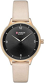 CURREN Watch Beige Leather and Copper frame Model C9039L