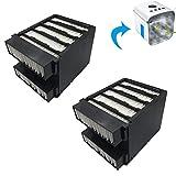 Nifogo Air Filtro Cooler Filtro de Repuesto Mini Air Cooler Filtro Conditioner Fan Filtro Humidificador de Filtro para el Dispositivo Individualde Enfriamiento y Humidificación del Aire(Negro)