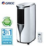 Gree 8000 BTU Air Conditioner with Dehumidifier Function,Fan Mode for Rooms up to 350 Sq.Ft.Remote Control and Timer, Quiet Energy Efficient,with Window Kit White