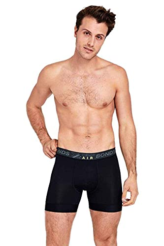 Bonds Men's Underwear X-Temp Air Trunk, Nu Black, Large