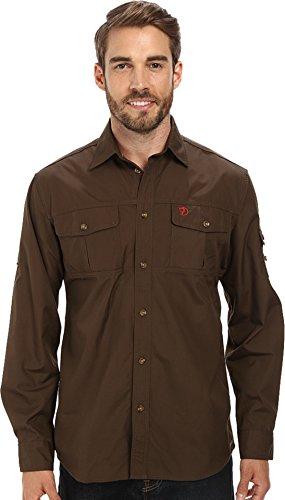Fjällräven Herren Singi Trekking Shirt LS M Long Sleeved T, Dark Olive, XL