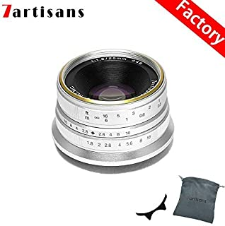 7artisans 25mm F1.8 APS-C Manual Fixed Lens for Fuji Cameras X-A1 X-A10 X-A2,X-A3 X-at X-M1 XM2 X-T1 X-T10 X-T2 X-T20 X-Pr...