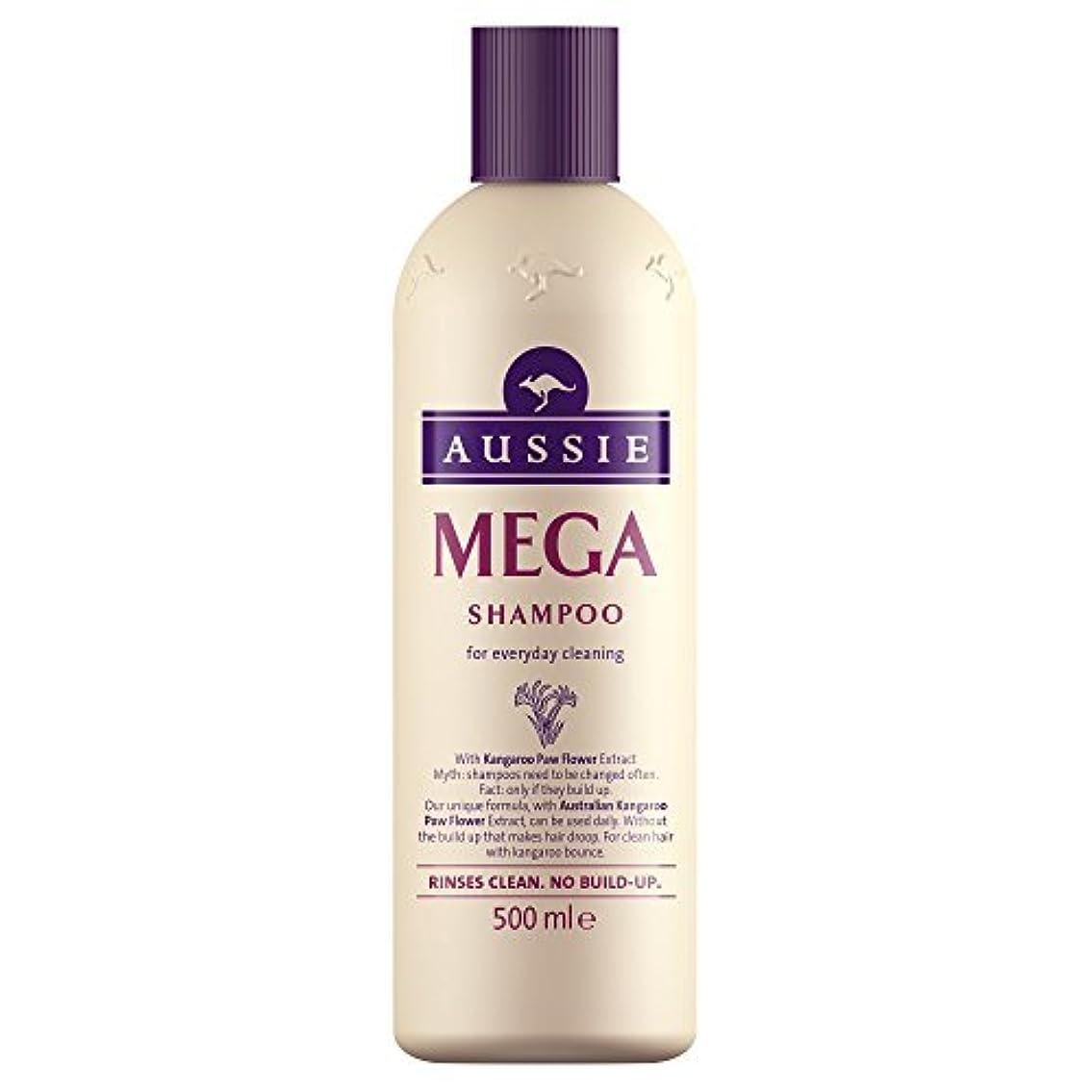 底知事印刷するAussie Mega Shampoo (500ml) by Grocery [並行輸入品]