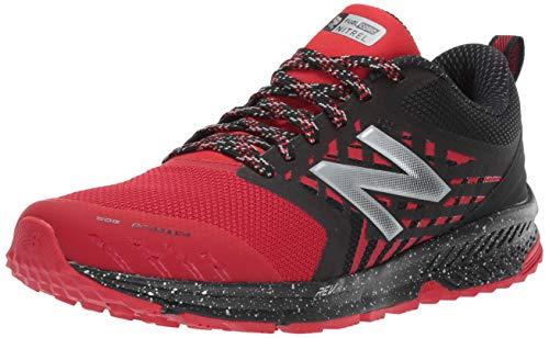 New Balance Men's Nitrel v1 FuelCore Trail Running Shoe, Red/Black, 8 4E US