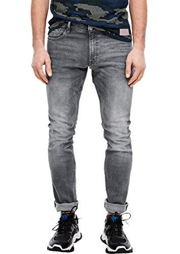 Q/S designed by - s.Oliver Herren Rick Slim: Stretchjeans mit Waschung grey 30.32