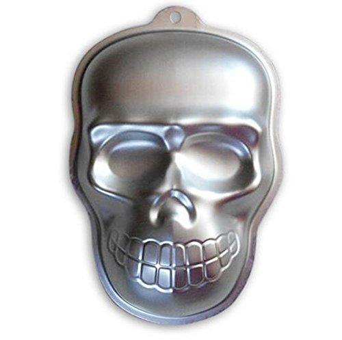 Hmlkeci 10 Inch Plane Aluminum Alloy 3D Cake Mold Baking Mould Tin Cake Pan -Skull