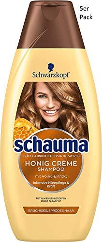 Schauma Honig Crème Shampoo, 5er Pack (5 x 400 ml)