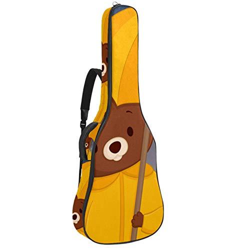 Bennigiry Hello Autumn Cartoon Bear_Mesa De Trabajo - Bolsa de guitarra acústica para guitarrista
