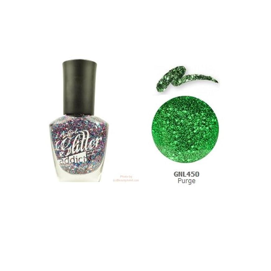 アピールトレース飾り羽(3 Pack) LA GIRL Glitter Addict Polish - Purge (並行輸入品)