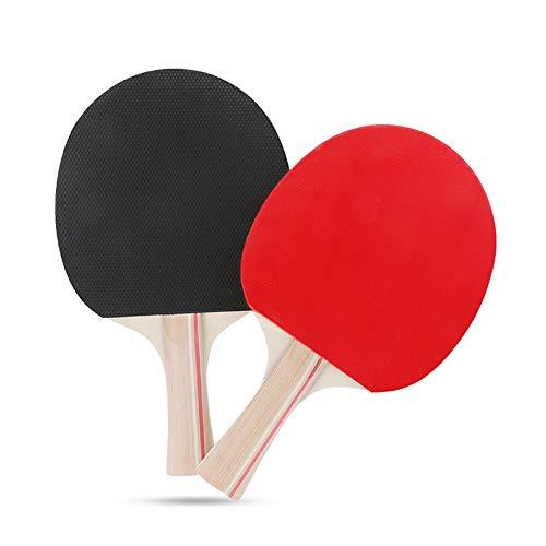 Nasjac Juego de Paleta de Ping-Pong, Tenis de Mesa Ajustable portátil con Poste de Red retráctil actualizado, 2 Raquetas de Goma Premium y 3 Pelotas estándar con Bolsa de cordón