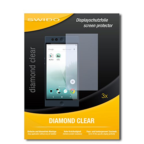SWIDO 3 x Schutzfolie Nextbit Robin Bildschirmschutz Folie DiamondClear unsichtbar