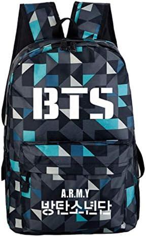 JUSTGOGO KPOP BTS Bangtan Boys Backpack Daypack Laptop Bag Student Bag Book Bag School Bag (10)