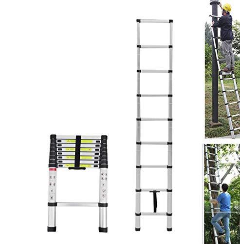2.6M/8.5FT Telescopic Loft Ladder Aluminium Attic Ladder Extendable,Max...