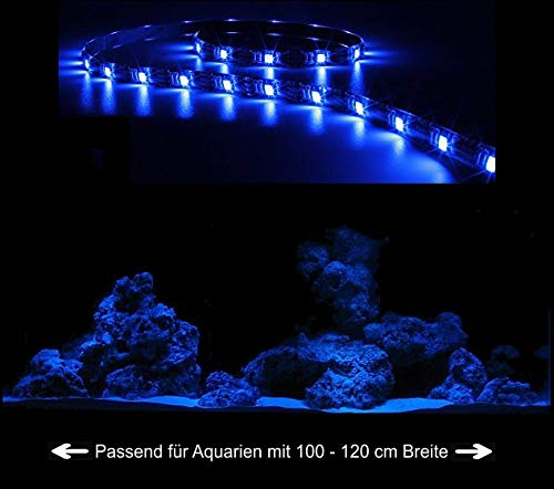 Creative Lights Aquarium Mondlicht, LED LICHTLEISTE 90 cm Flexi-Slim BLAU Komplettset